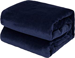 """TILLYOU All Season Micro-Fleece Plush Baby Blanket for Toddler Bed or Crib, Ultra Soft Warm Winter Toddler Blanket for Daycare Nap or Preschool Sleep, Fuzzy Cozy and Fluffy, 39""""x47"""" Navy"""