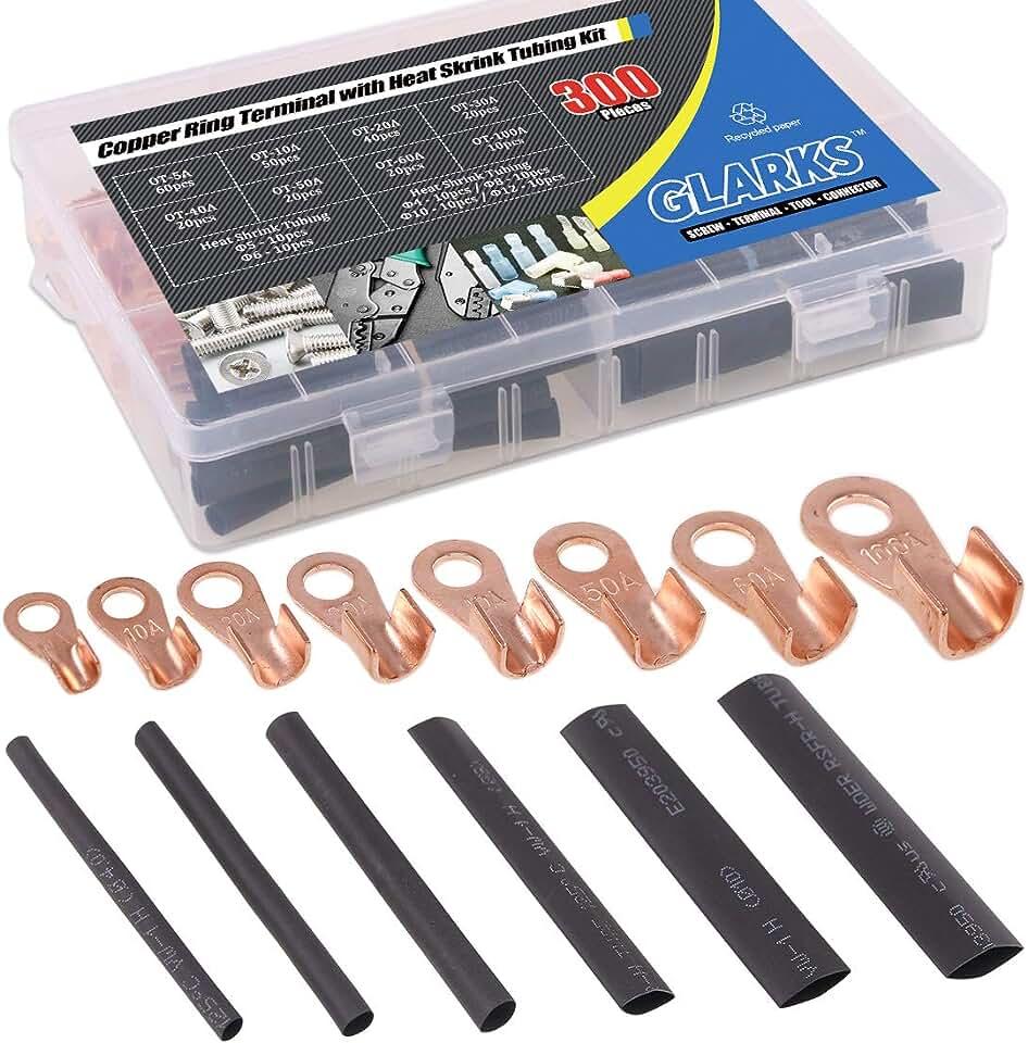 5 PCS OT 500A Open End Copper Circular Splice Crimp