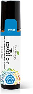 Chakra 5 True Expression Synergy (Throat Chakra) Pre-Diluted Roll-On 10 mL (1/3 oz) 100% Pure, Therapeutic Grade