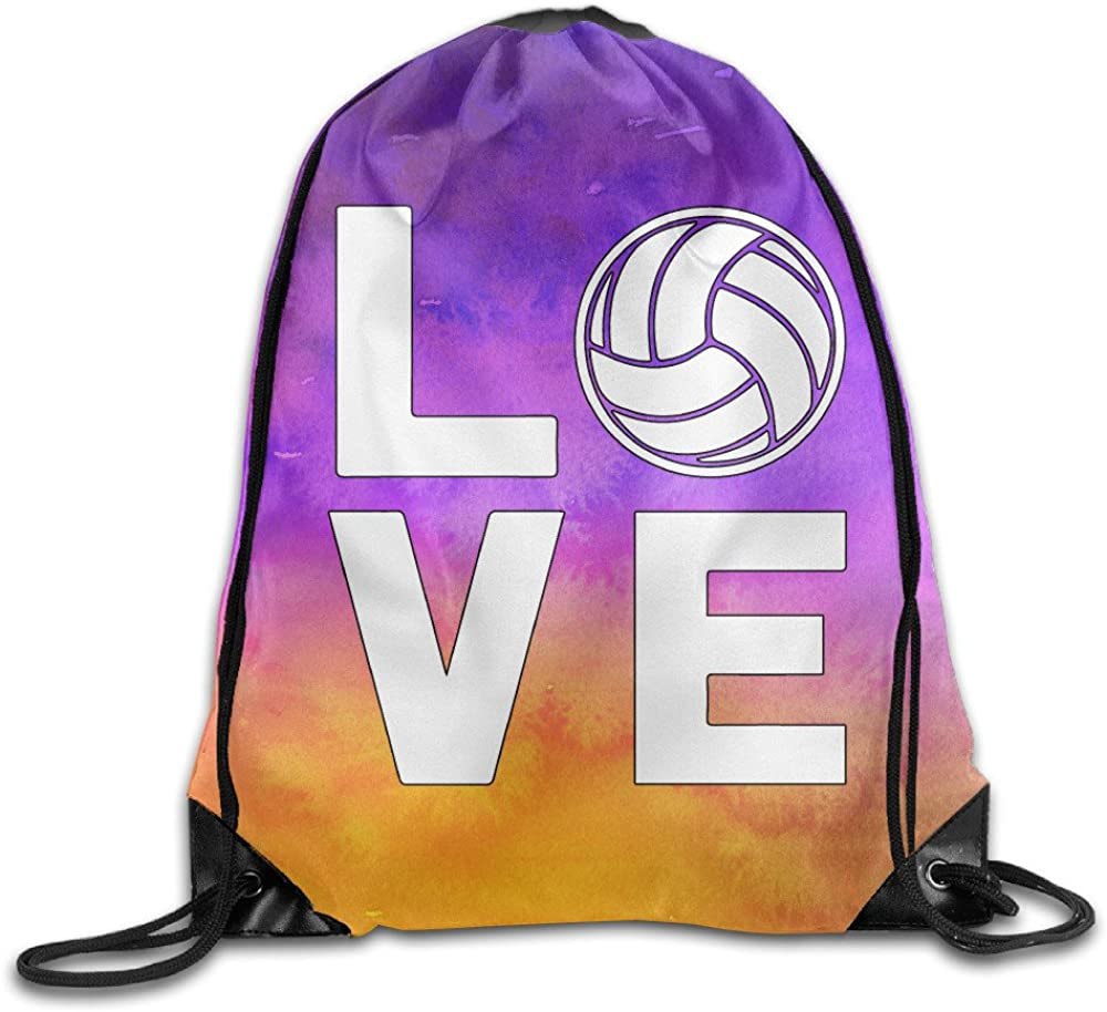 Spring new work Anyway I Love Volleyball for Sports mart Fans Drawstring B