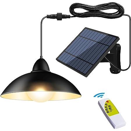 最新分離型 ソーラーライト センサーライト 4400mAh超大電池容量 5m延長コード 玄関灯 自動点灯 電気代不要 リモコン付き IP65防水 玄関先/庭/駐車場等屋内外に適応 日本語取扱説明書 (暖色系)
