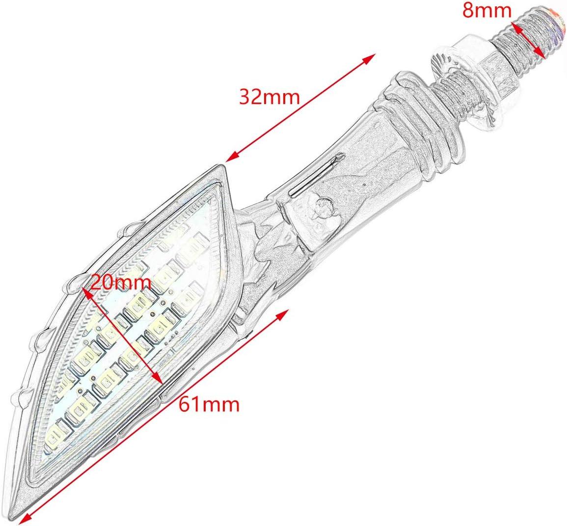 Motorcycle & ATV Rebacker 10mm Skull LED Turn Signal Light Amber ...