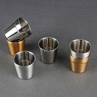 Double Wall Coffee Wine Beer Stainless Steel Mugs Cups Tumbler Bar Drinkware(260ml^+201)
