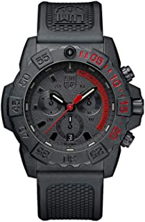 Navy Seal Mens Watch Chronograph Black (3581.EY / 3580 Series): 200 Meter Water Resistant + Ultra Light Weight Carbon Case + Stop Watch