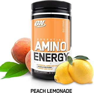 Optimum Nutrition Amino Energy with Green Tea and Green Coffee Extract, Flavor: Peach Lemonade, 30 Servings, 9.5 Ounce (Pack of 1)