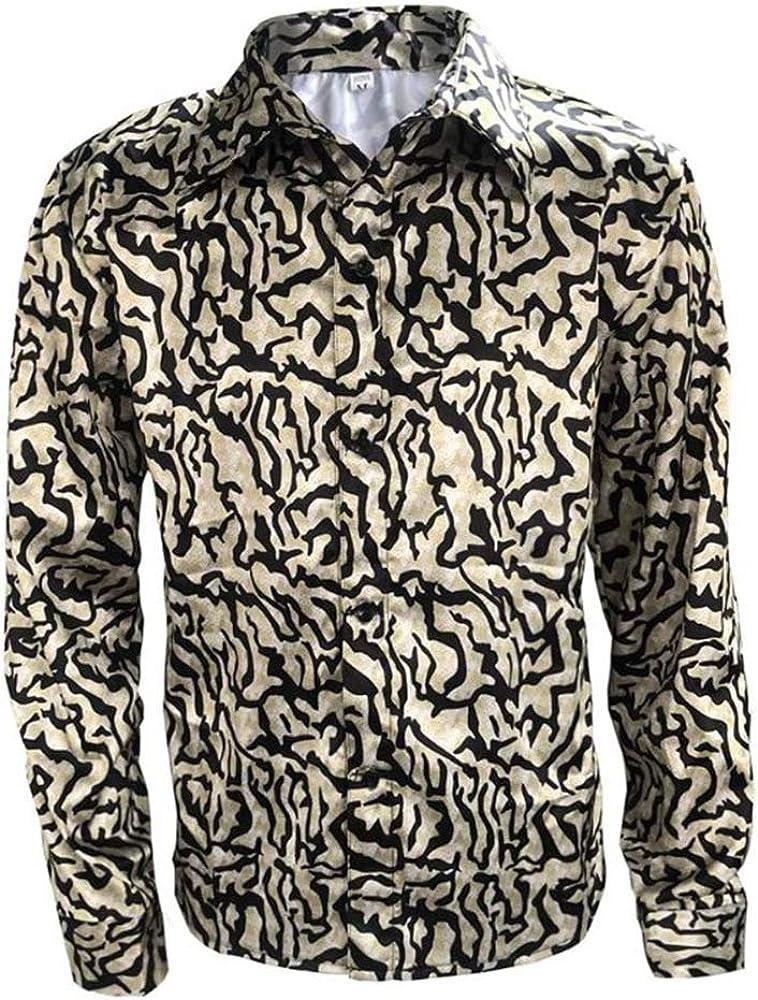 Mens Tiger King Shirt Joe Exotic Button Dress Shirt