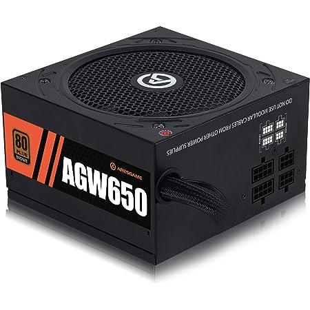 ARESGAME 650W Power Supply Semi Modular 80+ Bronze PSU (AGW650)