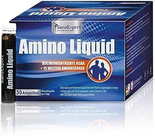 SanaExpert Amino Liquid. aminoácidos. BCAA y vitamina B6. 30 ampollas