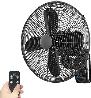 XYNH Ventilador De Pared con Control Remoto - Ventiladores Silencioso Giratorio Industrial - Potente con Función De Oscilación - Ajustable De 3 Velocidades Fan