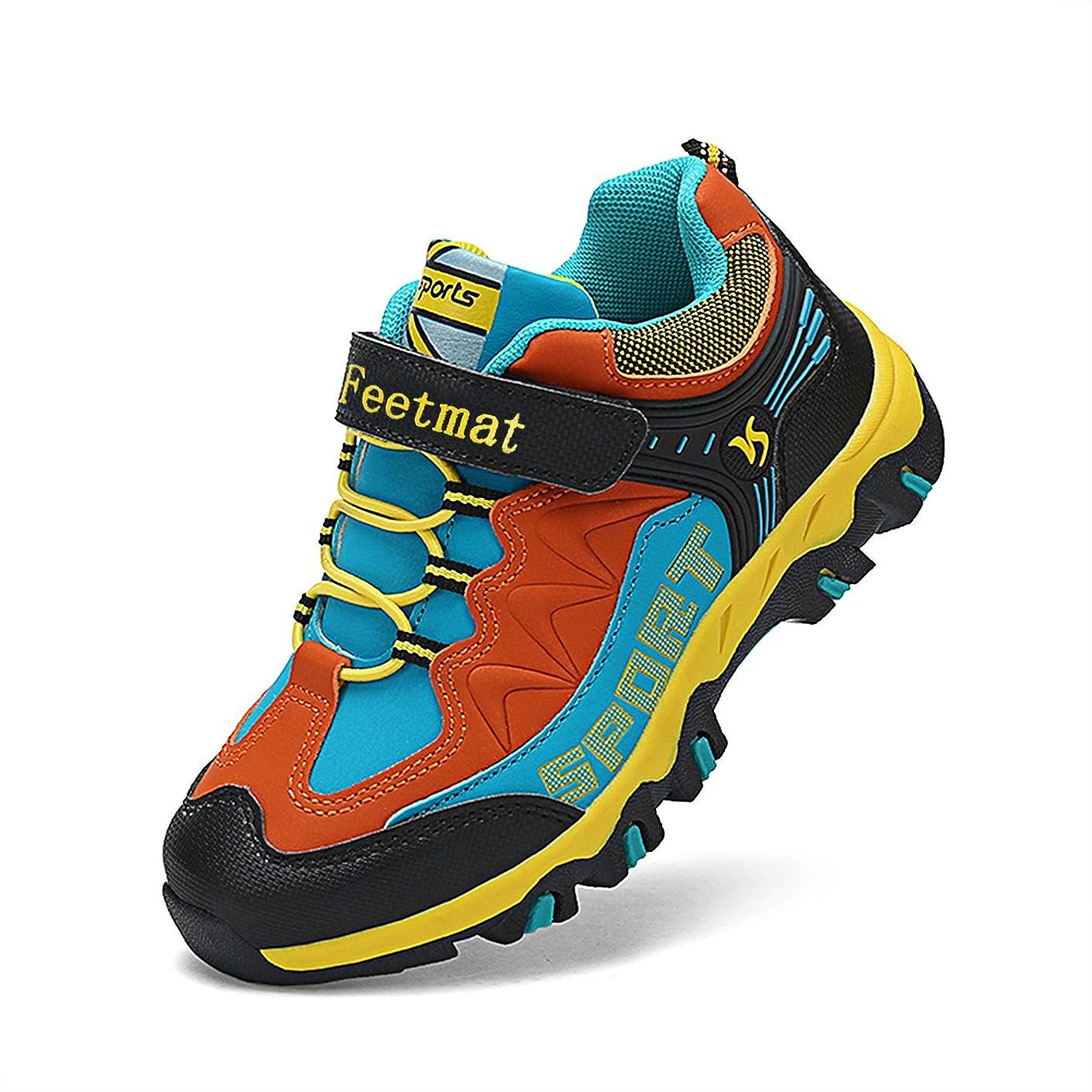 呼吸衝撃キャンバス[Feetmat] スニーカー キッズ 子供靴 ランニングシューズ アウトドア ハイキング 運動靴 通学