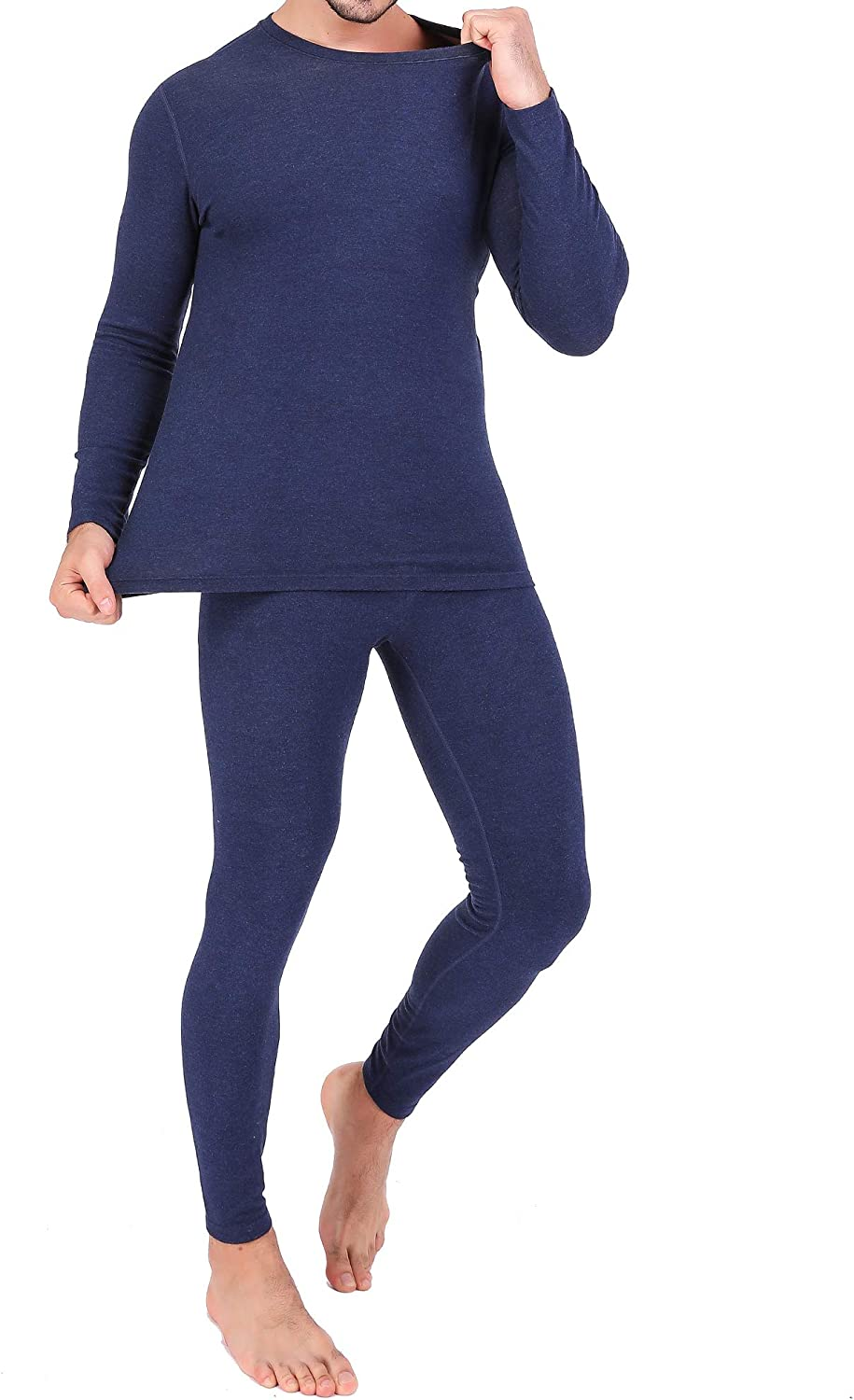 Ginasy Thermal Underwear for Men Soft Long Johns Top and Bottom Set Base Layer for Cold Weather