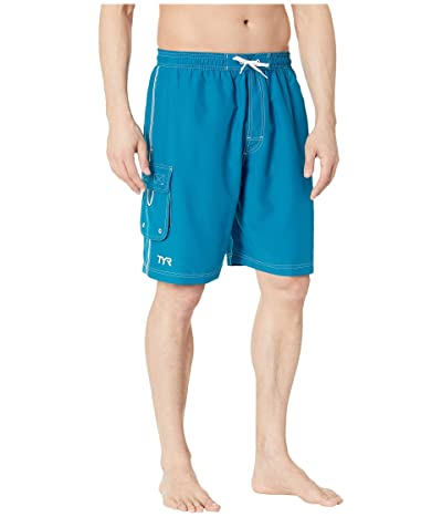 TYR Solid Challenger Swim Shorts (Ocean Blue) Men