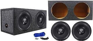 """(2) Rockville W12K6D2 V2 12"""" 4800w Car Audio Subwoofers+Sealed Sub Box Enclosure photo"""