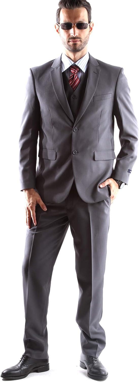Men's Single Breasted 2 Button Slim Fit Dress Suit