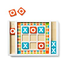 """Melissa & Doug Wooden Tic-Tac-Toe Board Game (10 Self-Storing Game Pieces, 12.5"""" W x 8.5"""" L x 1.25"""" D, Great Gift for Girls and Boys - Best for 4, 5, 6 Year Olds and Up)"""