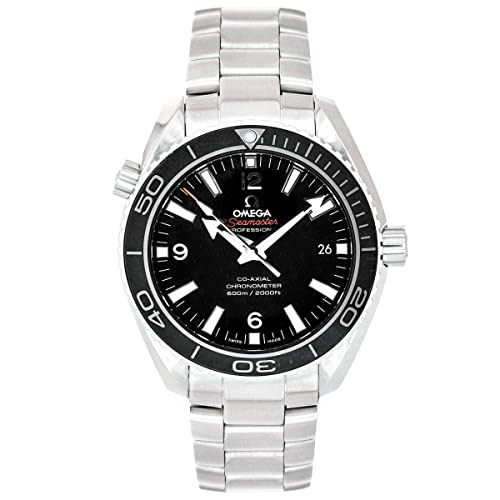 Omega Mens 232.30.42.21.01.001 Seamaster Planet Ocean Black Dial Watch