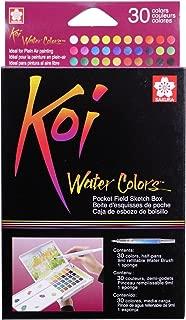 Sakura 30-Colors/set Assorted Watercolors Field Sketch Set with Brush