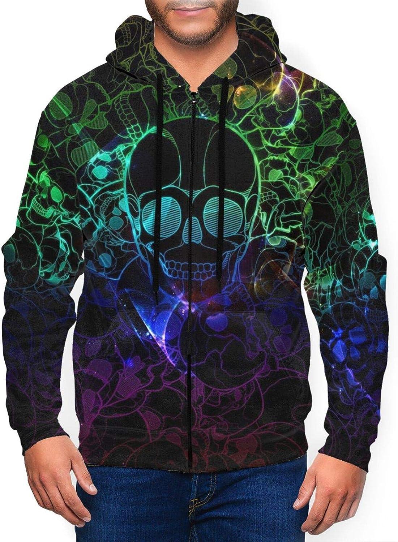 neon Many popular brands skulls Cotton Ranking TOP16 Unisex 3D Pullover Digital Hood Fashion Print