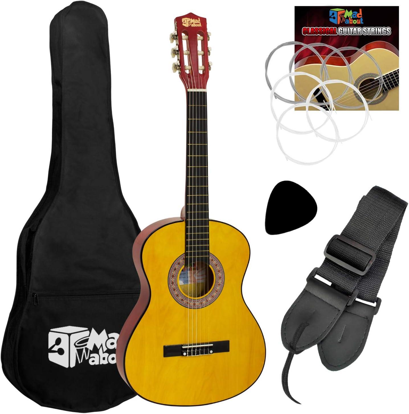 Mad About Pack de guitarra clásica española para niños, tamaño 1/4