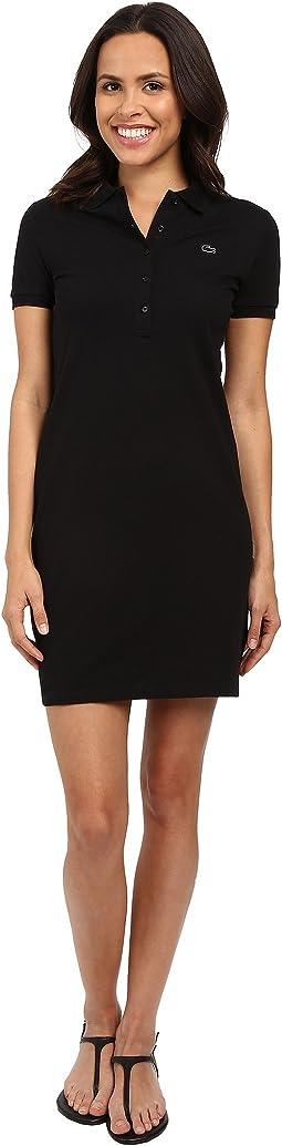 Short Sleeve Pique Polo Dress