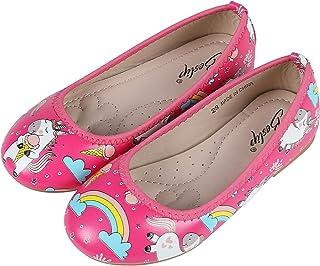 Sponsored Ad - Beslip Girls Unicorn Princess Dress Shoes - Toddler Little Girls Ballet Flats Mary Jane Shoes