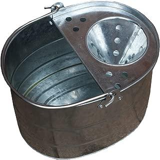 Apollo Gardening 10L Traditional Galvanised Metal Mop Bucket