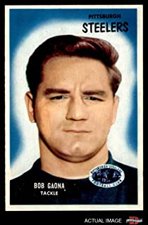 1955 Bowman # 73 Bob Gaona Pittsburgh Steelers (Football Card) Dean's Cards 7 - NM Steelers