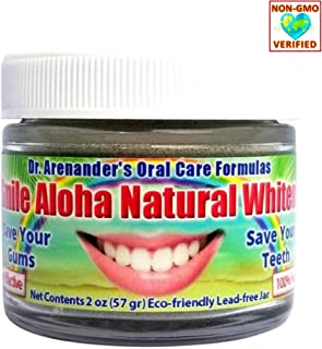 Activated Charcoal Teeth Whitening Powder - Organic Peppermint Xylitol - Natural Tooth Powder, Enamel Safe - Helps: Reduce Gum Recession, Plaque, Inflammation - Smile Aloha Whitener