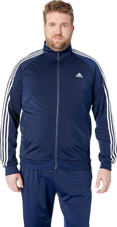 Adidas Essentials 3S Tricot Track Jacket Men's All Sports MT Collegiate Navy-White