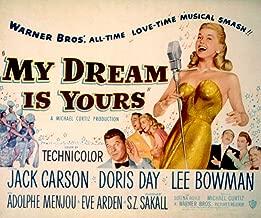 Posterazzi My Dream is Yours Doris Day Jack Carson Lee Bowman Adolphe Menjou Eve Arden S.Z. Sakall 1949 Movie Masterprint Poster Print (28 x 22)