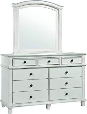 Coaster Home Furnishings Carolina Arched Antique White Mirror