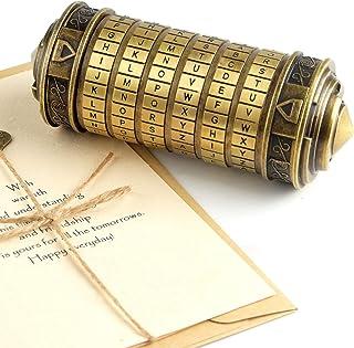 TUPARKA Da Vinci Code Mini Cryptex Puzzle Boxes Valentine's Day Interesting Creative Secret Box Romantic Birthday for Her ...