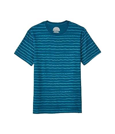 Lucky Brand Sunset Wave Stripe T-Shirt (Ink Blue) Men