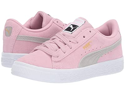 Puma Kids Suede Classic (Little Kid) (Pale Pink/Gray Violet) Girls Shoes
