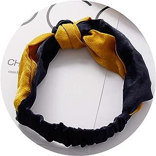 New Fashion Simple Cross Bow Patchwork Women Elegant Elastic Headband Hair Holder Ornament Bandanas Hair Accessories Hairbands,5