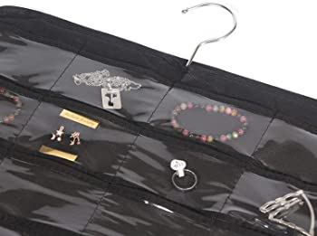 DIOMMELL 80 Pockets Hanging Jewelry Organizer for Women, Storage Bag for Earrings Necklace Bracelet Ring Accessory Di...