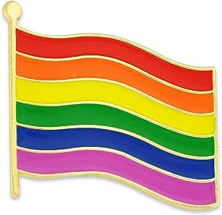PinMart Rainbow Gay Pride Flag LGBTQ Enamel Lapel Pin