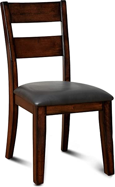 Furniture Of America Dallas Transitional Dining Chair Dark Cherry Set Of 2