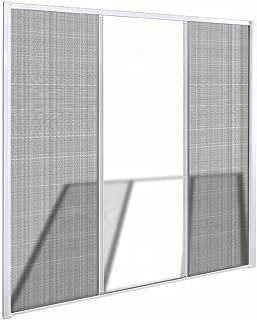 vidaXL Mosquitera Fija Puertas Abatibles Blanca 215x215cm