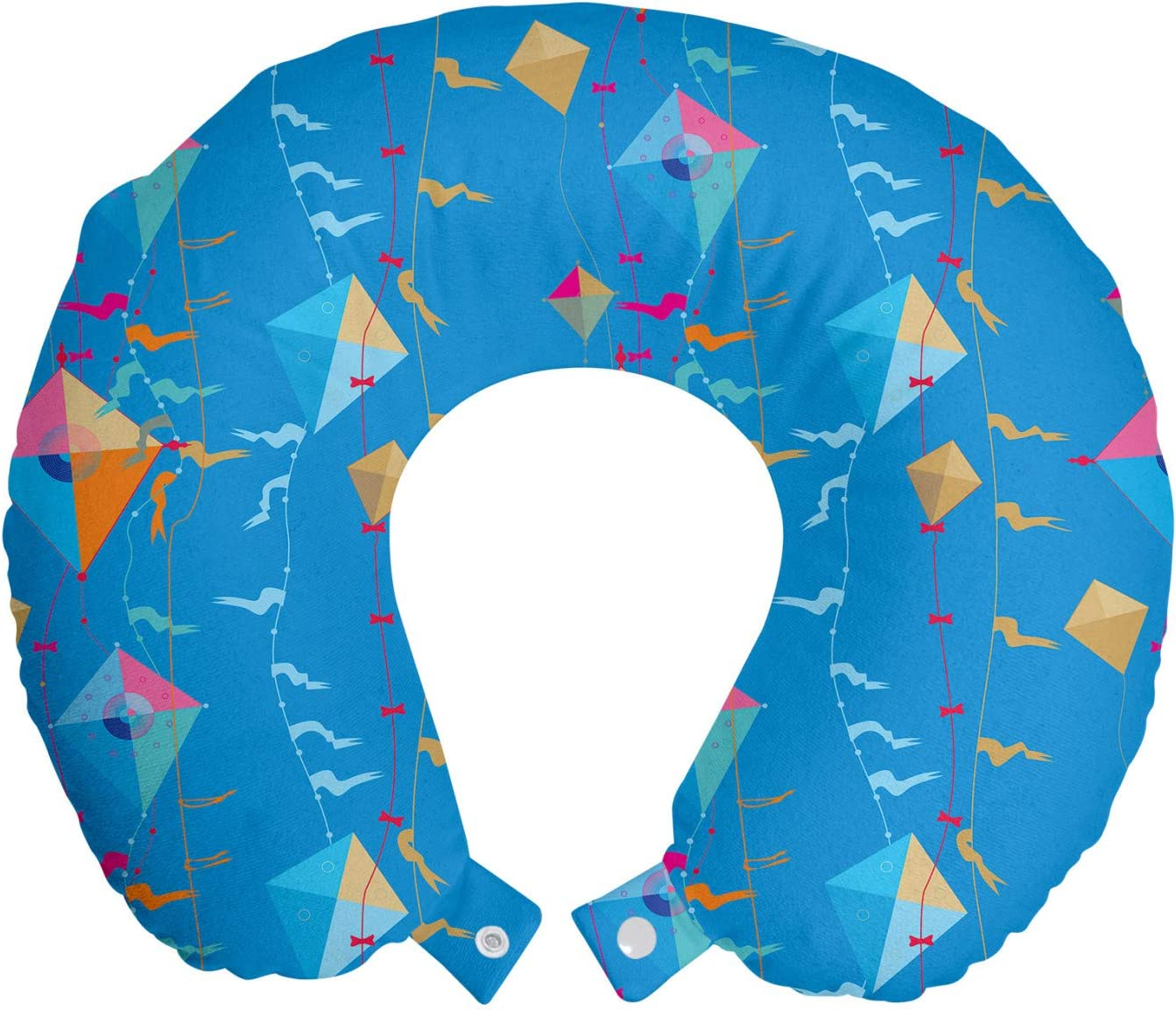 Ambesonne Shipping included Kites Travel Pillow Neck on Kite Rest Ranking TOP13 Flying Vibrant