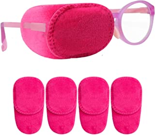 4 Pack Eye Patches for Kids Girls Boys, Soft Eye Patch for Glasses, Medical Patches for Children with Lazy Eye Amblyopia Strabismus and After Surgery (Pink)