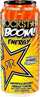 Rockstar Energy Drink Boom! Whipped Orange Flavor Energy, 16 Ounce (Pack of 24)