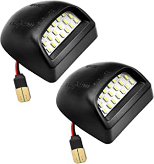 LED License Plate Light Lamp Assembly Tag Lights for Chevy Silverado 1500 2500 3500 Suburban Tahoe GMC Sierra Yukon XL 1500 2500&Cadillac Escalad Car,6000K White,Pack of 2