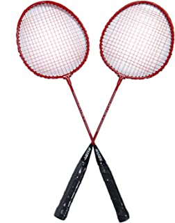 Vixen Badminton Racquets for Kids | Pack of 2 Rackets Cover Bag | Red Color