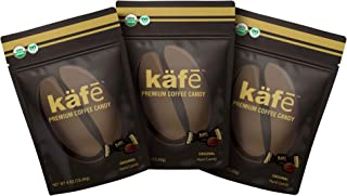 käfē Premium Coffee Candy, Organic, Vegan, Dairy Free, Original Flavor, 4 oz bag, Pack of 3