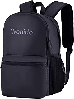 Lightweight Laptop Backpack, Soft College School backpack With Waterproof Smooth Shell Fabric For Men & Women (Solid Black)