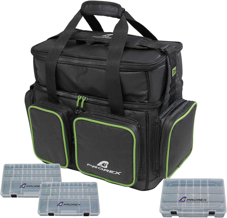 Daiwa Prorex Kunstkdertasche XL mit 3 Boxen Angeltasche