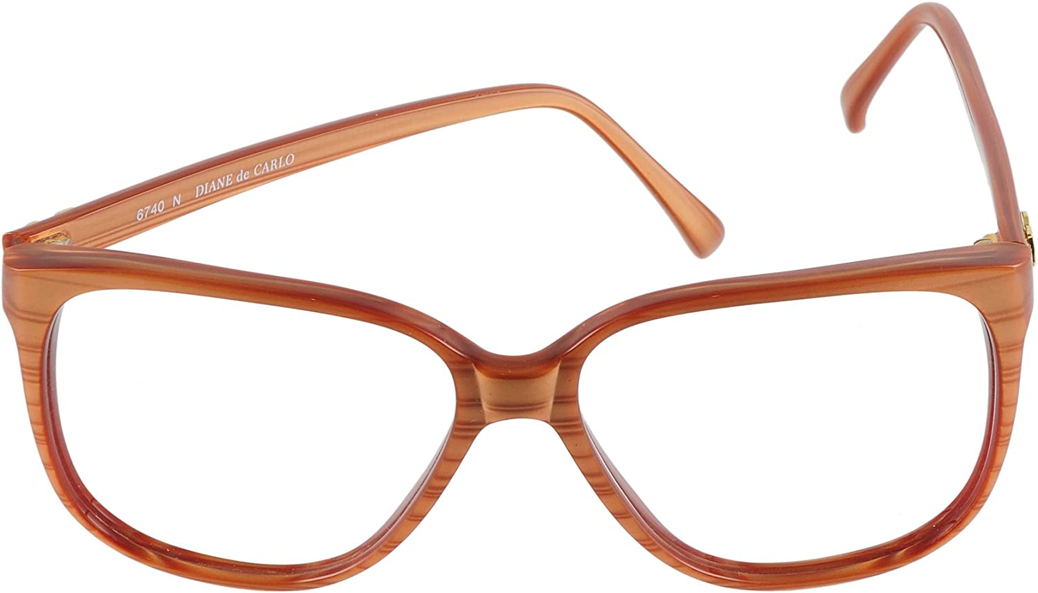 Diane de Carlo Eyeglasses 6740 N Brown 5715 Hand made