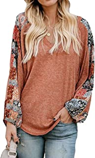 Beyove Women's Casual Sweet & Cute Loose Shirt Balloon Sleeve V-Neck Blouse Top(S-XXL)