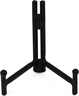 Milltown Merchants™ Folding Metal Display Stand - Plate Stand/Picture Stand - Black Metal Plate Stand - Portable Display Stand for Trade Show, Office, or Home (1 Pack, Small)